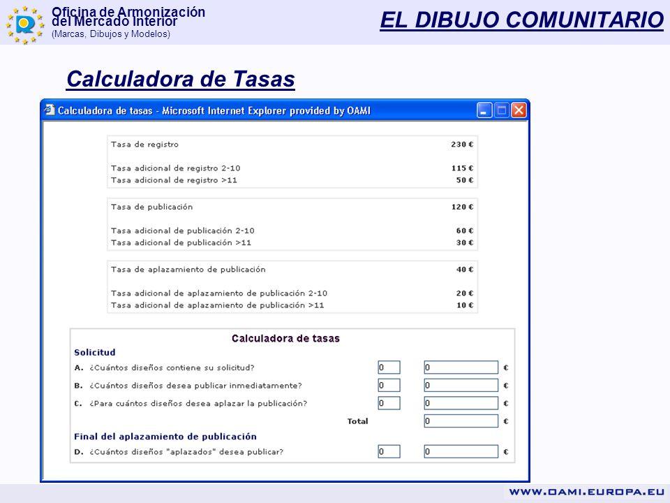 EL DIBUJO COMUNITARIO Calculadora de Tasas