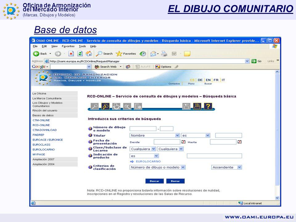 EL DIBUJO COMUNITARIO Base de datos