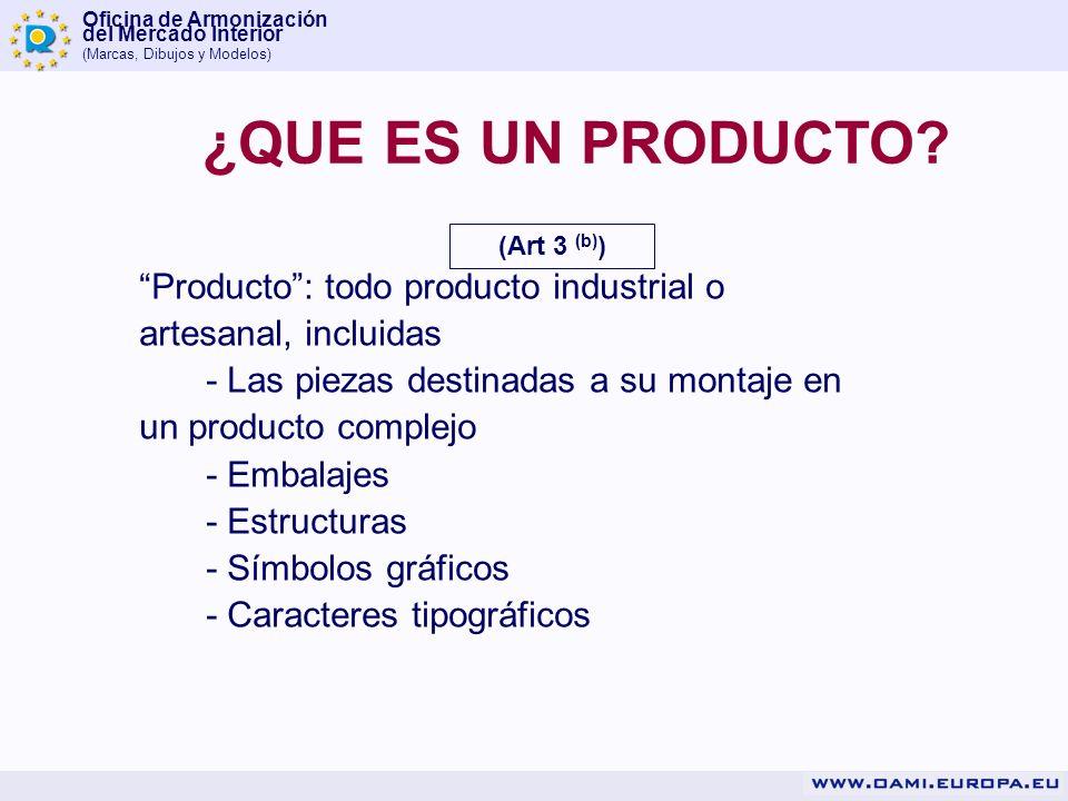 ¿QUE ES UN PRODUCTO (Art 3 (b)) Producto : todo producto industrial o artesanal, incluidas.