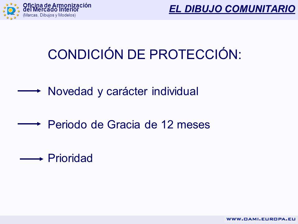 CONDICIÓN DE PROTECCIÓN: