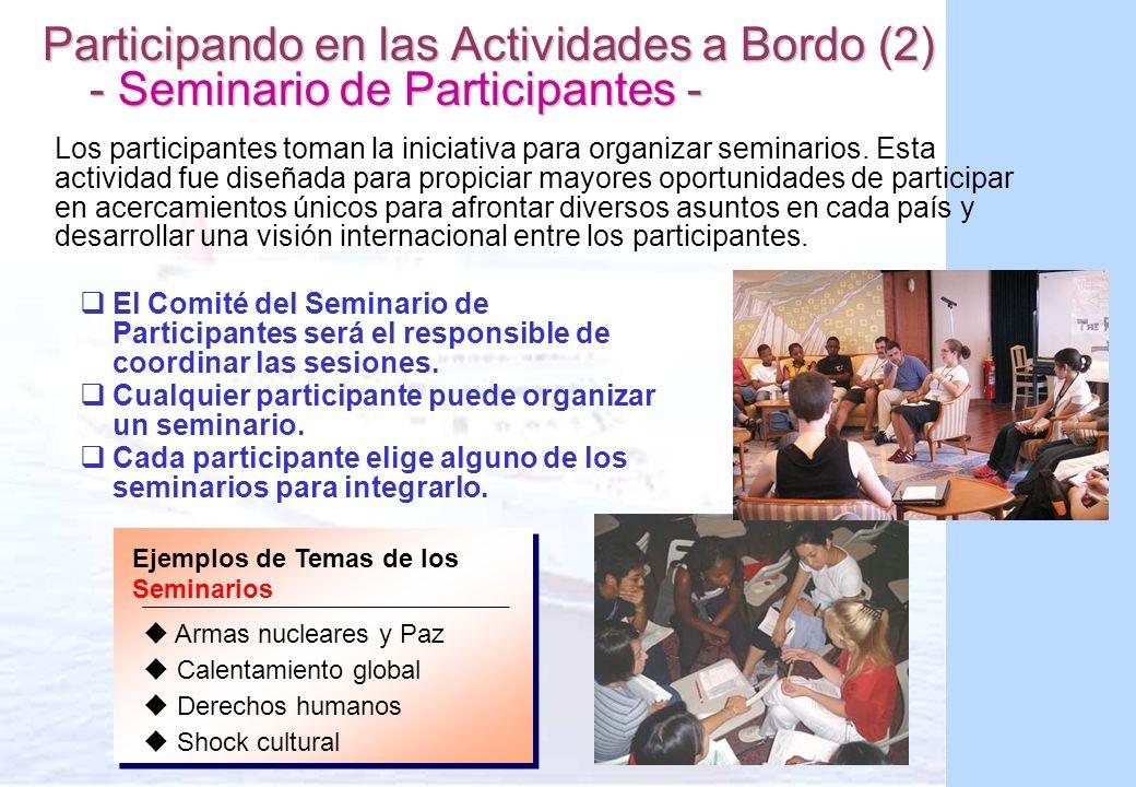 Participando en las Actividades a Bordo (2) - Seminario de Participantes -