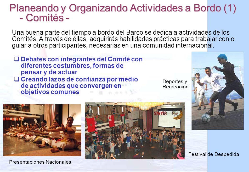 Planeando y Organizando Actividades a Bordo (1) - Comités -