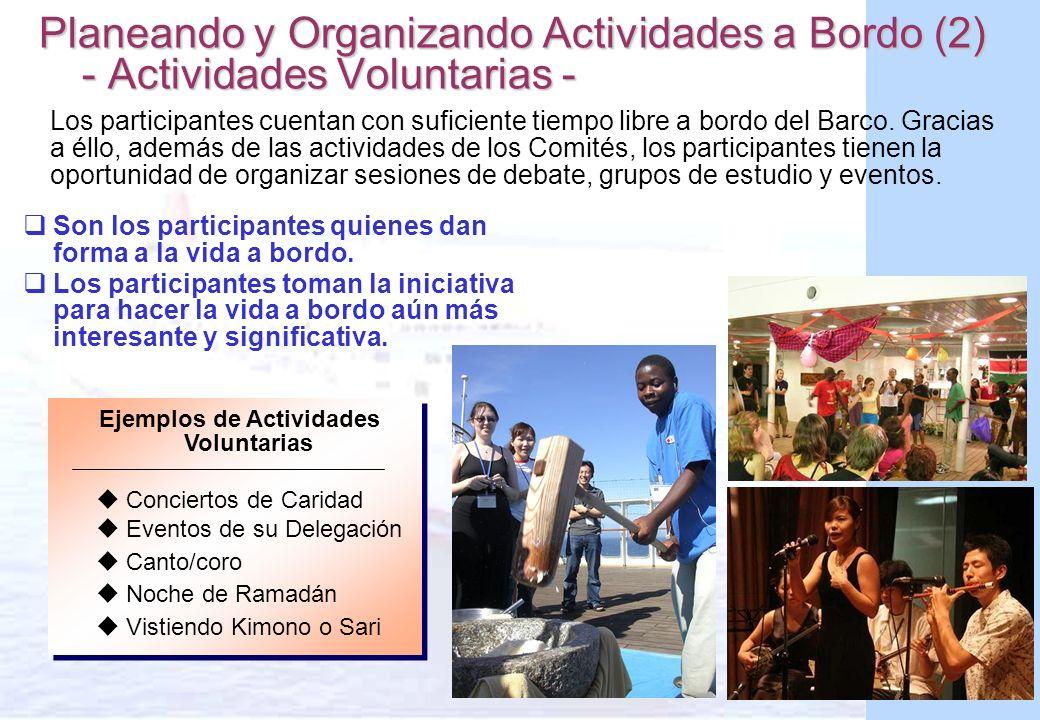 Ejemplos de Actividades Voluntarias