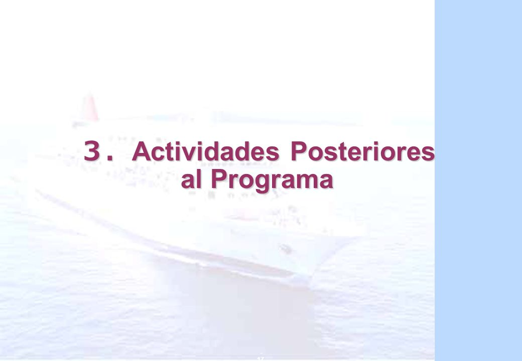3.Actividades Posteriores al Programa