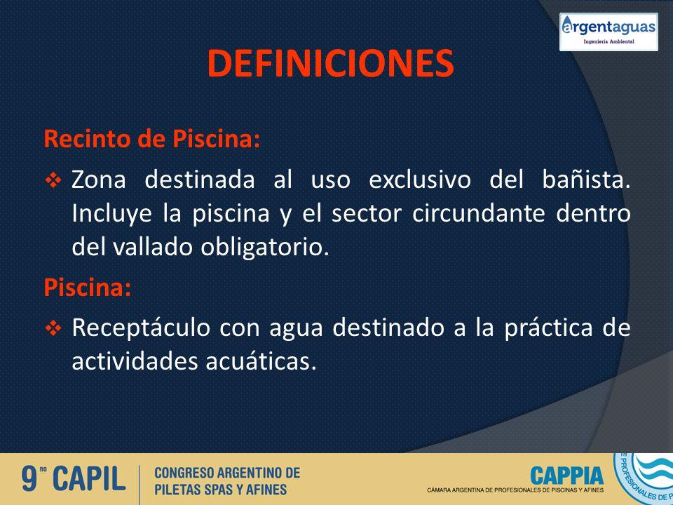 DEFINICIONES Recinto de Piscina: