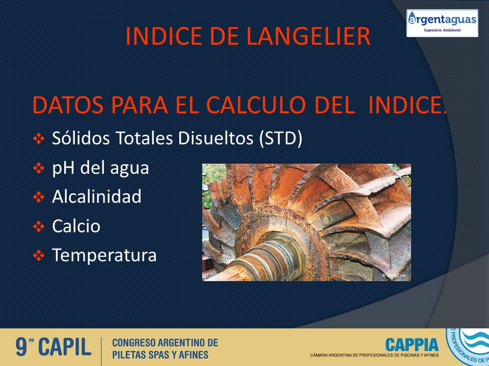 INDICE DE LANGELIER DATOS PARA EL CALCULO DEL INDICE.