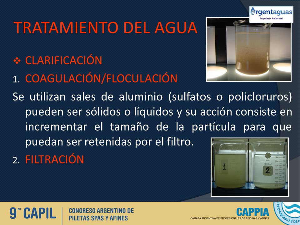 TRATAMIENTO DEL AGUA CLARIFICACIÓN COAGULACIÓN/FLOCULACIÓN