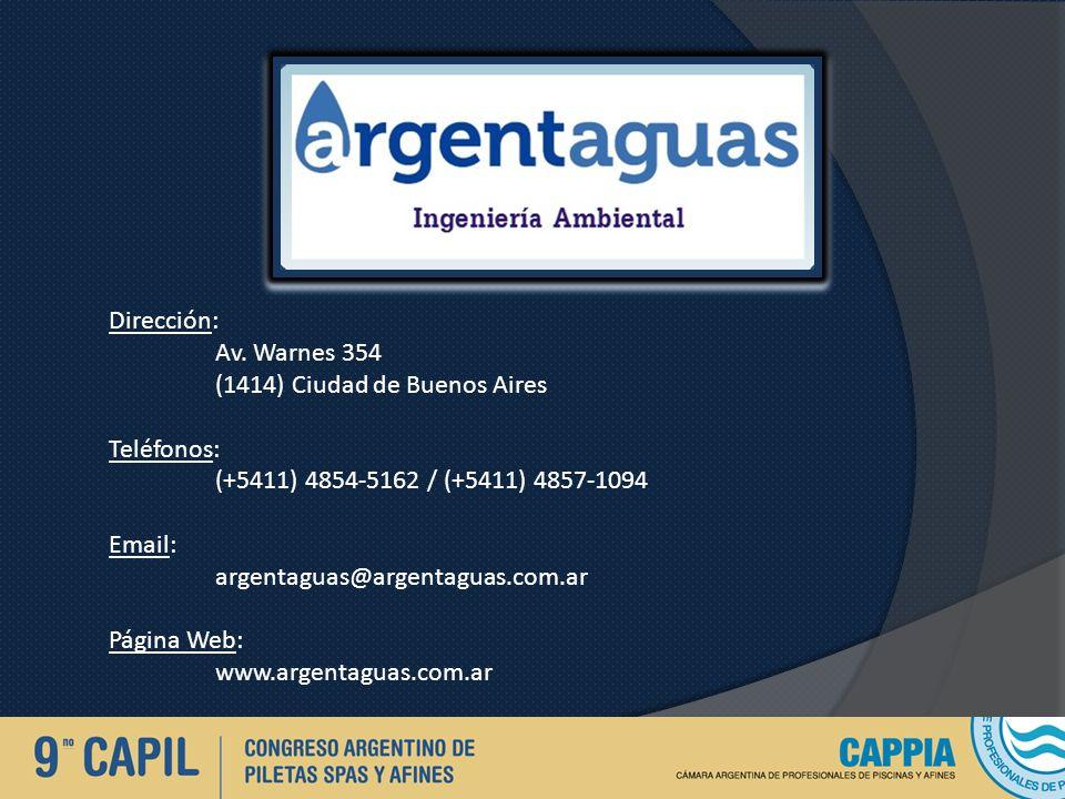 Dirección: Av. Warnes 354. (1414) Ciudad de Buenos Aires. Teléfonos: (+5411) 4854-5162 / (+5411) 4857-1094.