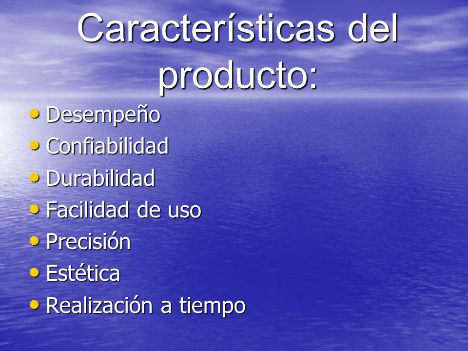 Características del producto:
