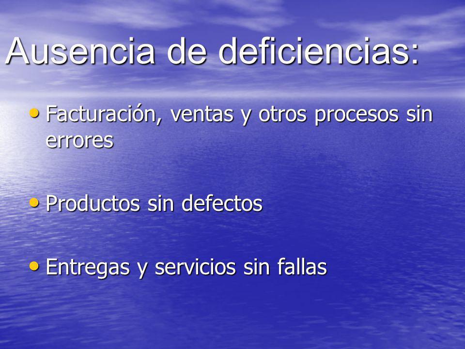 Ausencia de deficiencias: