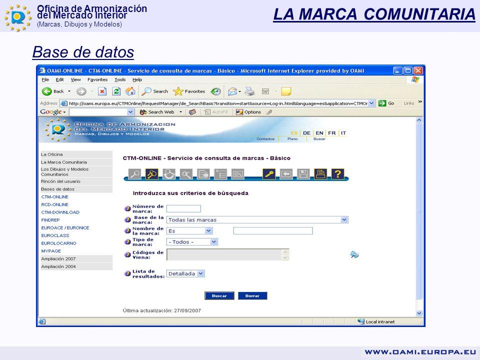 LA MARCA COMUNITARIA Base de datos