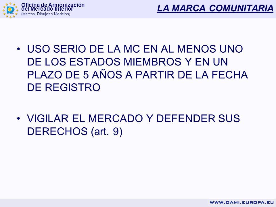 VIGILAR EL MERCADO Y DEFENDER SUS DERECHOS (art. 9)