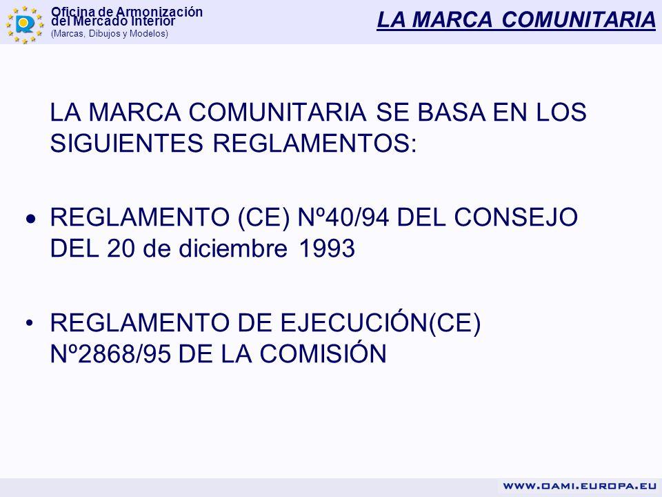 LA MARCA COMUNITARIA SE BASA EN LOS SIGUIENTES REGLAMENTOS: