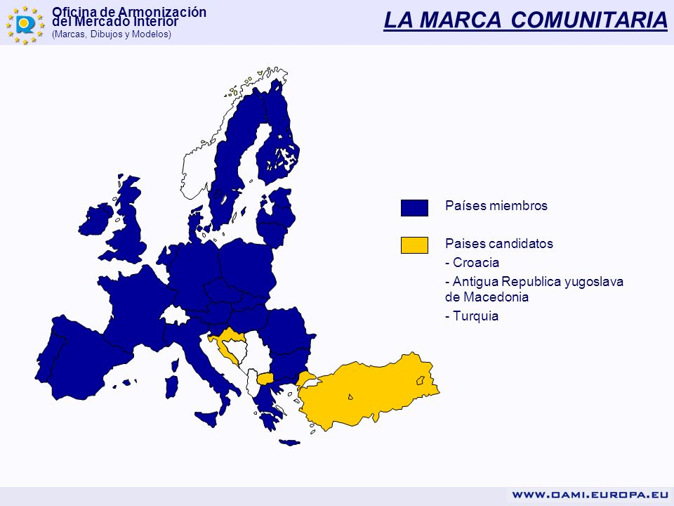 LA MARCA COMUNITARIA Países miembros Paises candidatos - Croacia
