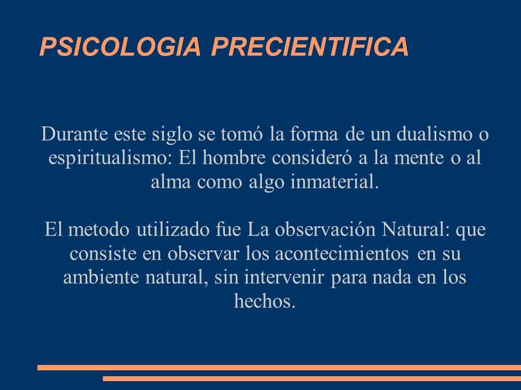 PSICOLOGIA PRECIENTIFICA