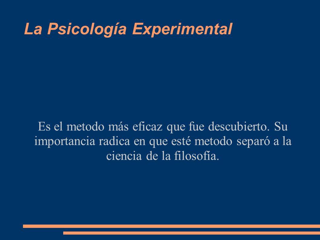 La Psicología Experimental