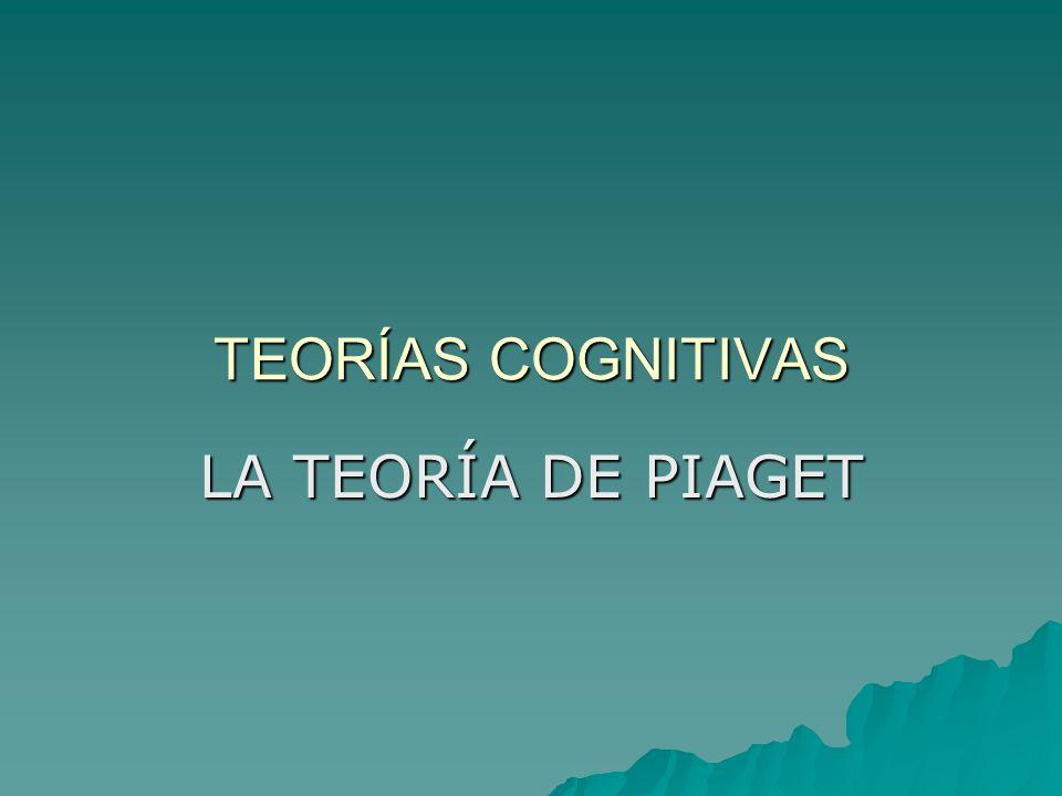 TEORÍAS COGNITIVAS LA TEORÍA DE PIAGET