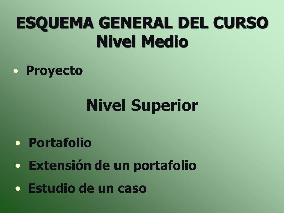 ESQUEMA GENERAL DEL CURSO Nivel Medio