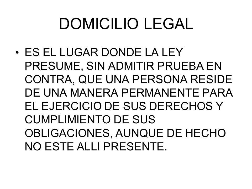 DOMICILIO LEGAL
