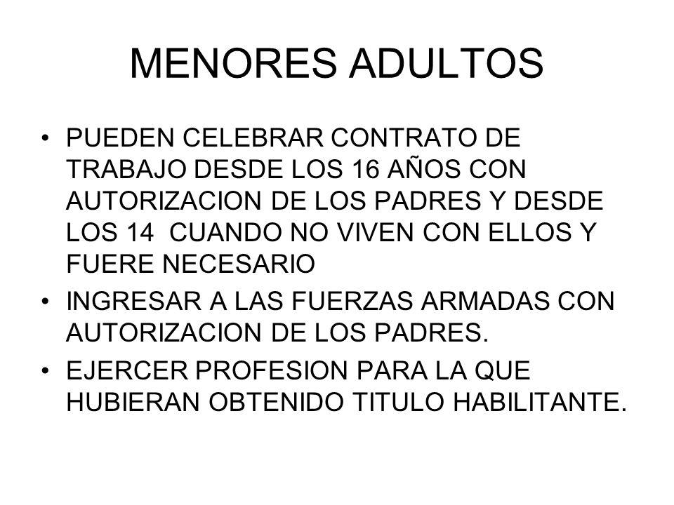 MENORES ADULTOS