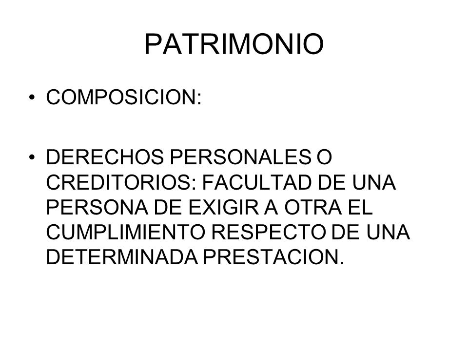 PATRIMONIO COMPOSICION: