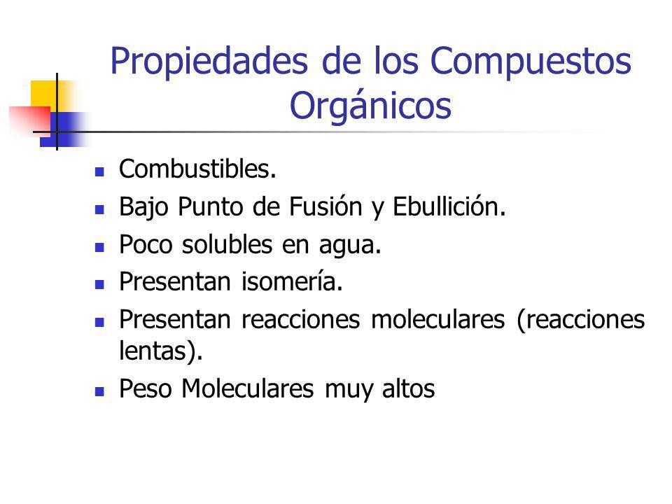 Propiedades de los Compuestos Orgánicos