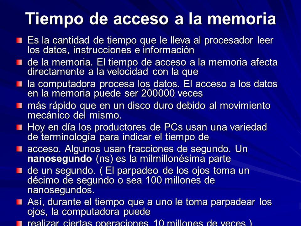 Tiempo de acceso a la memoria