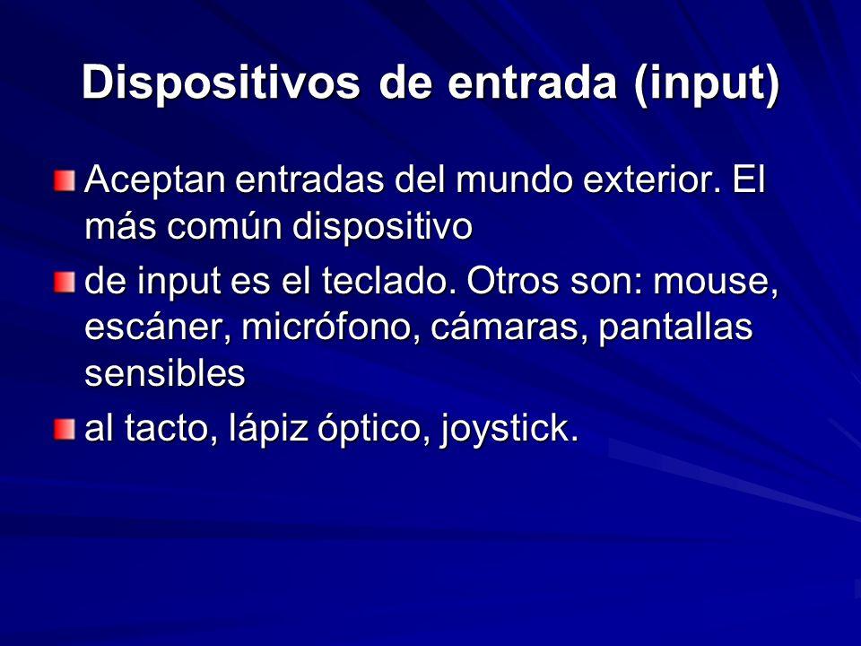 Dispositivos de entrada (input)