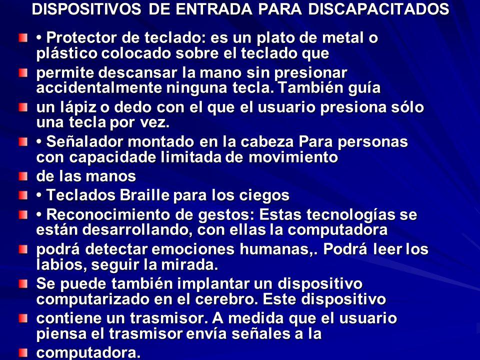 DISPOSITIVOS DE ENTRADA PARA DISCAPACITADOS