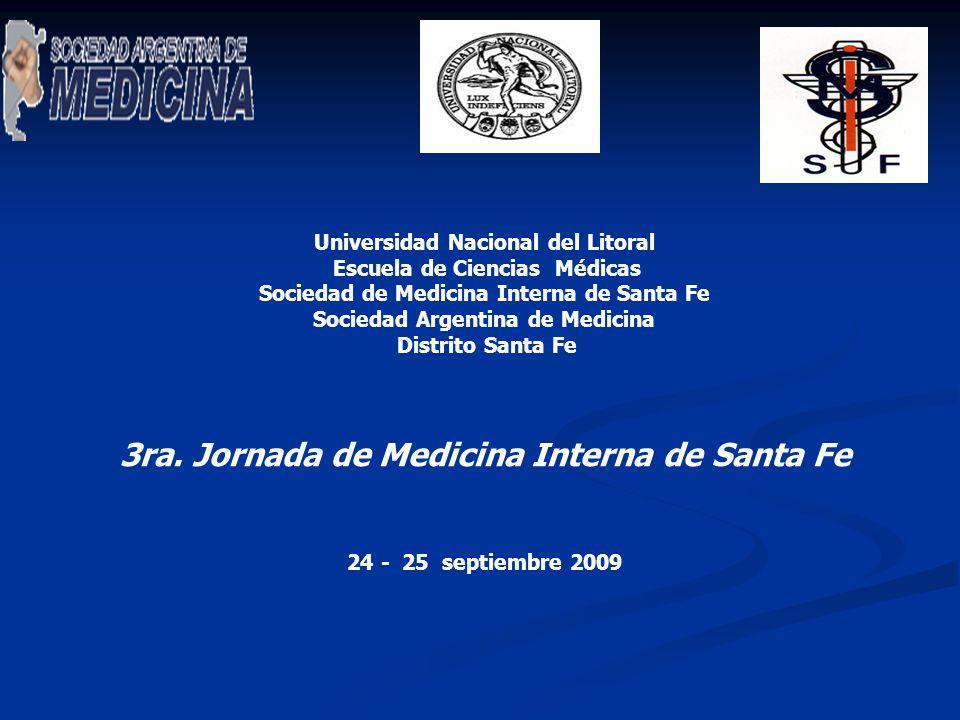 3ra. Jornada de Medicina Interna de Santa Fe