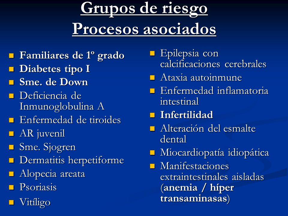 Grupos de riesgo Procesos asociados