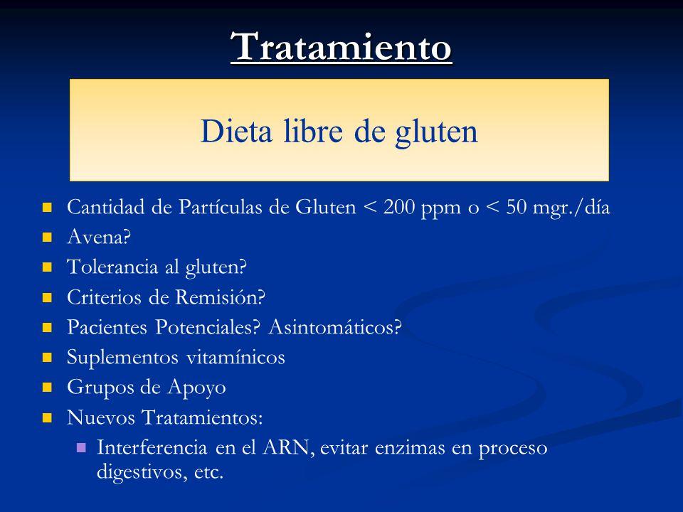 Tratamiento Dieta libre de gluten