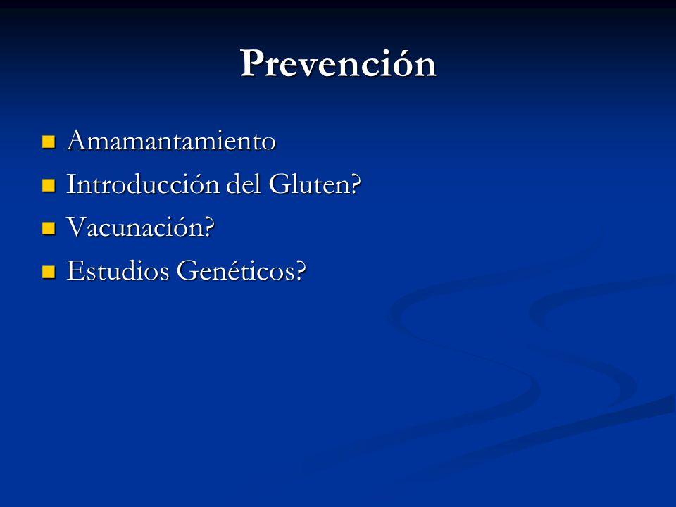 Prevención Amamantamiento Introducción del Gluten Vacunación