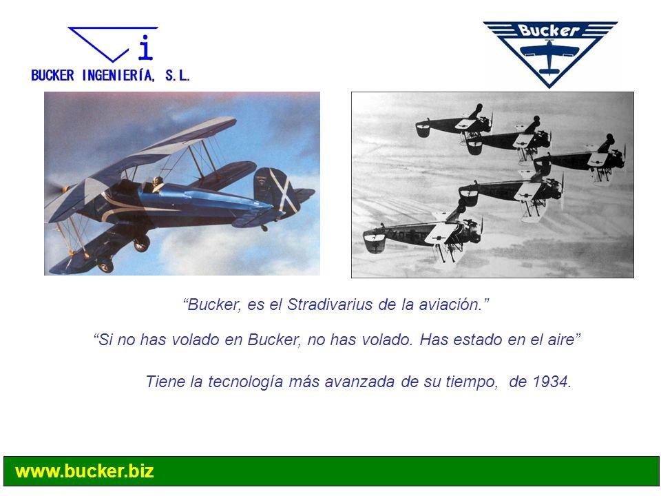 Bucker, es el Stradivarius de la aviación.
