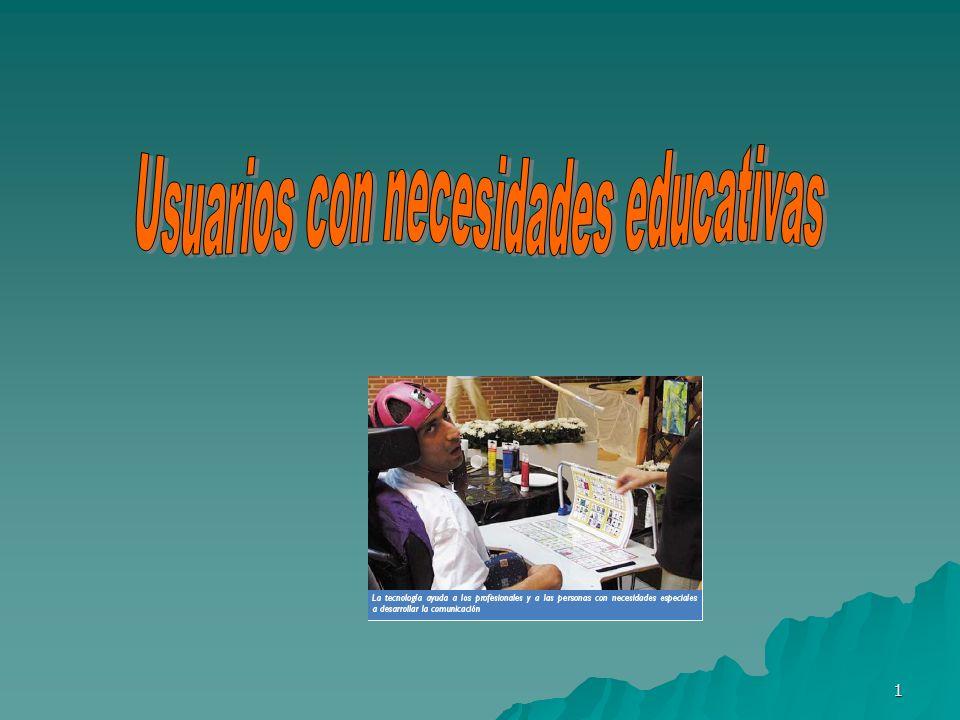 Usuarios con necesidades educativas