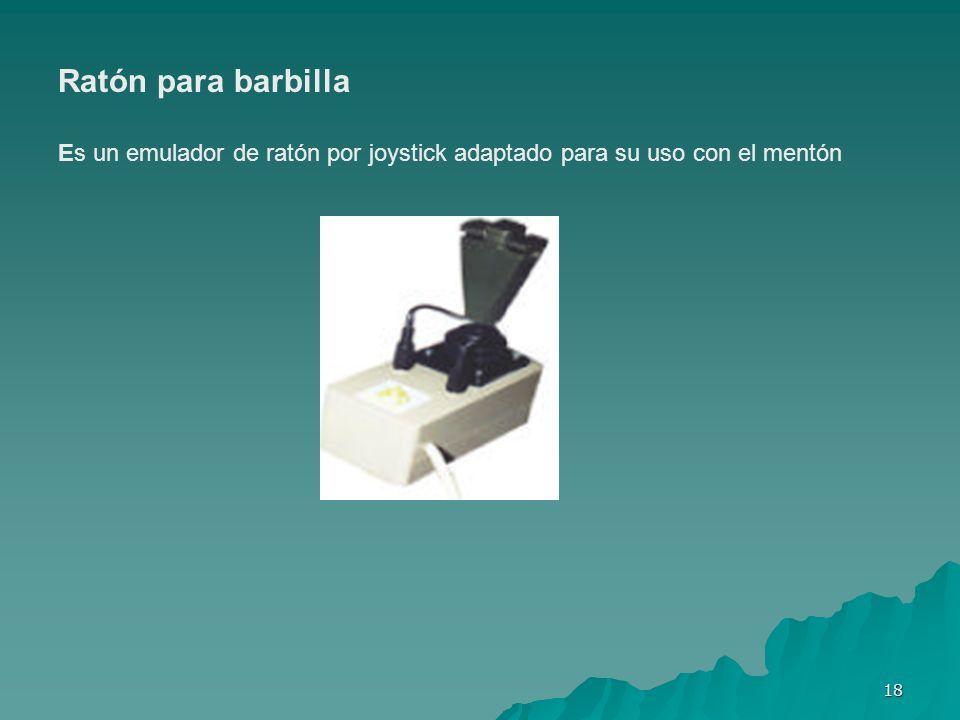 Ratón para barbilla Es un emulador de ratón por joystick adaptado para su uso con el mentón