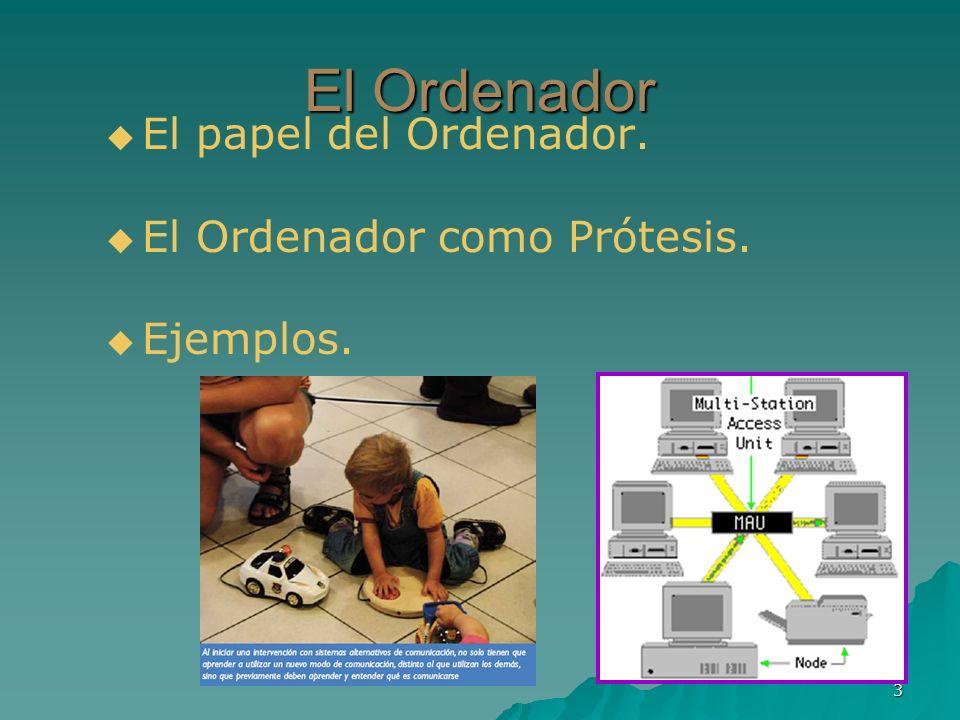 El Ordenador El papel del Ordenador. El Ordenador como Prótesis.