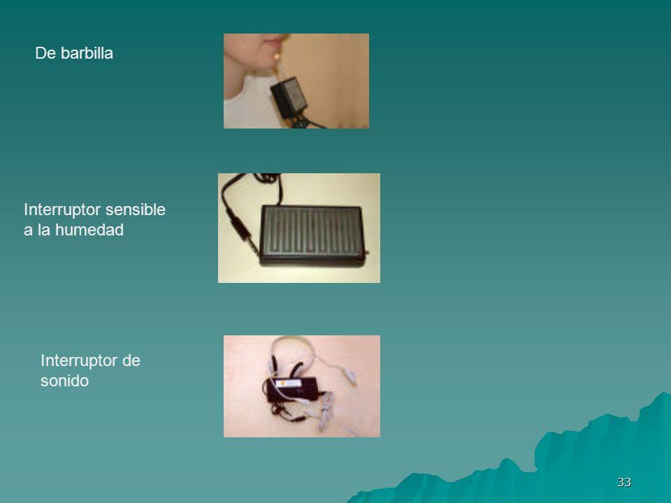 De barbilla Interruptor sensible a la humedad Interruptor de sonido