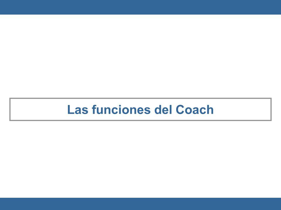 Las funciones del Coach