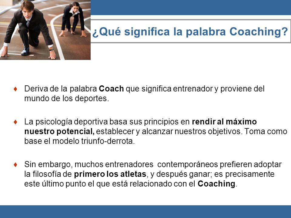 ¿Qué significa la palabra Coaching
