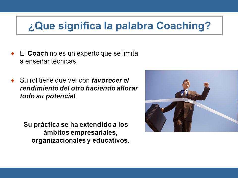 ¿Que significa la palabra Coaching