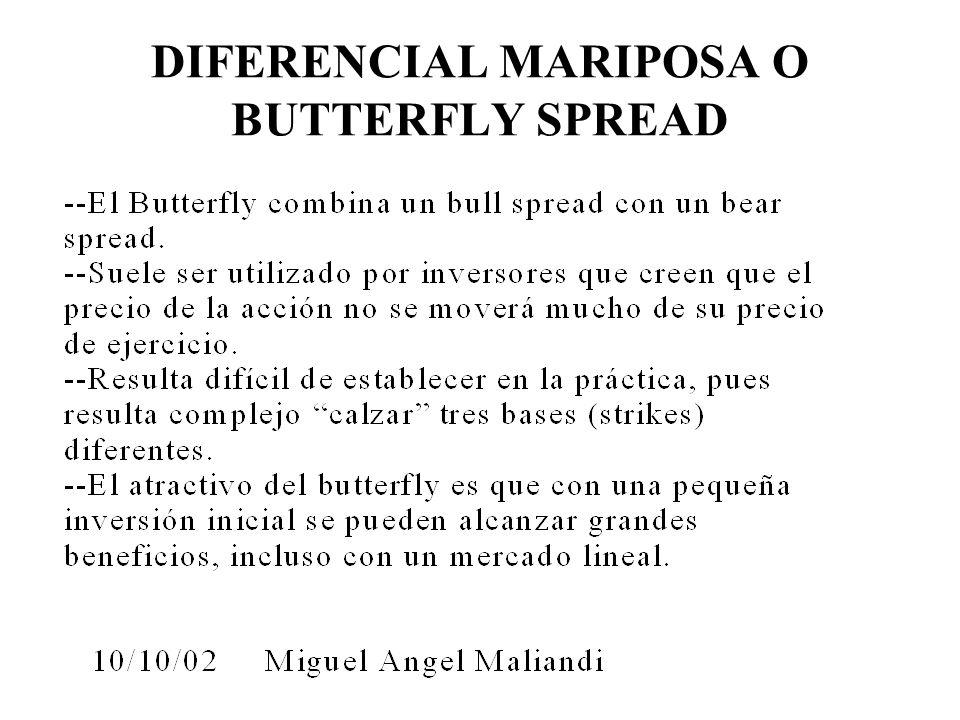 DIFERENCIAL MARIPOSA O BUTTERFLY SPREAD