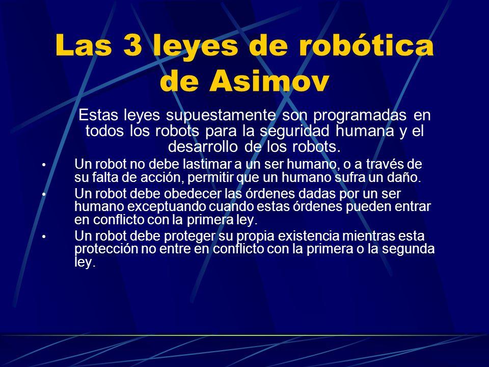 Las 3 leyes de robótica de Asimov