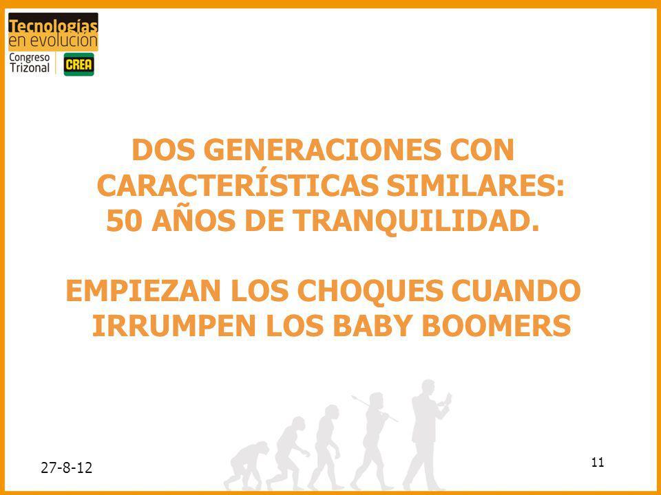 DOS GENERACIONES CON CARACTERÍSTICAS SIMILARES: