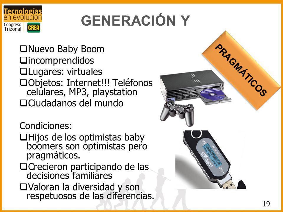 GENERACIÓN Y Nuevo Baby Boom PRAGMÁTICOS incomprendidos
