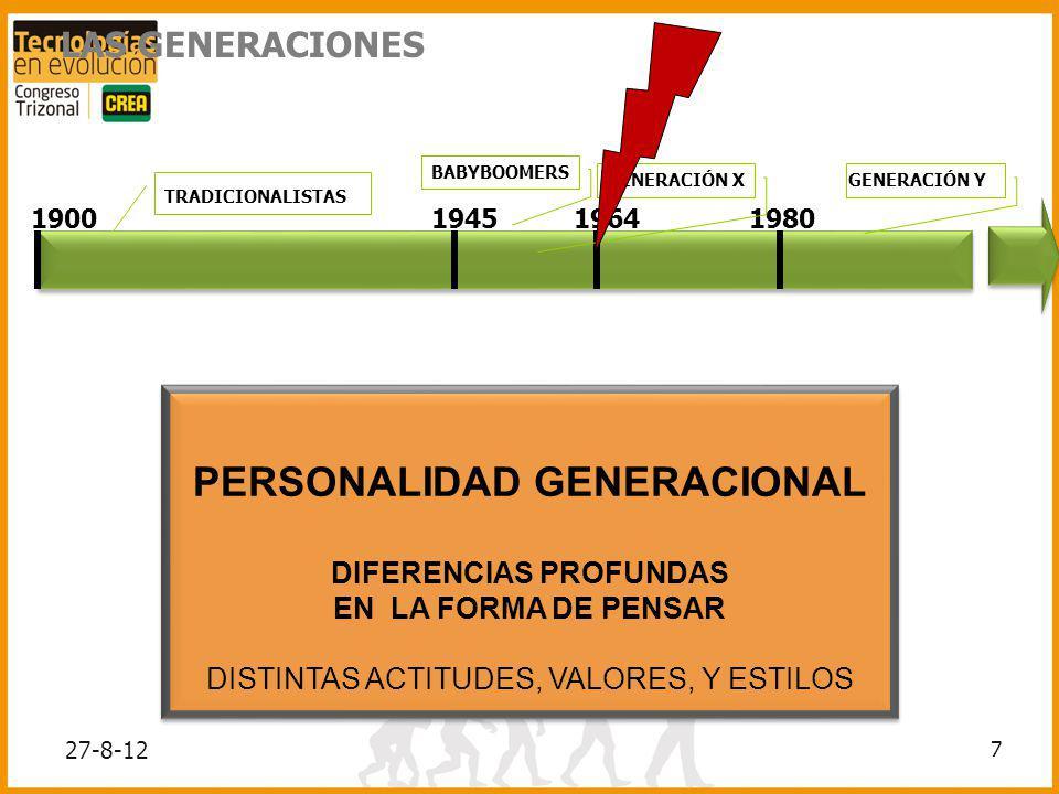 PERSONALIDAD GENERACIONAL DIFERENCIAS PROFUNDAS