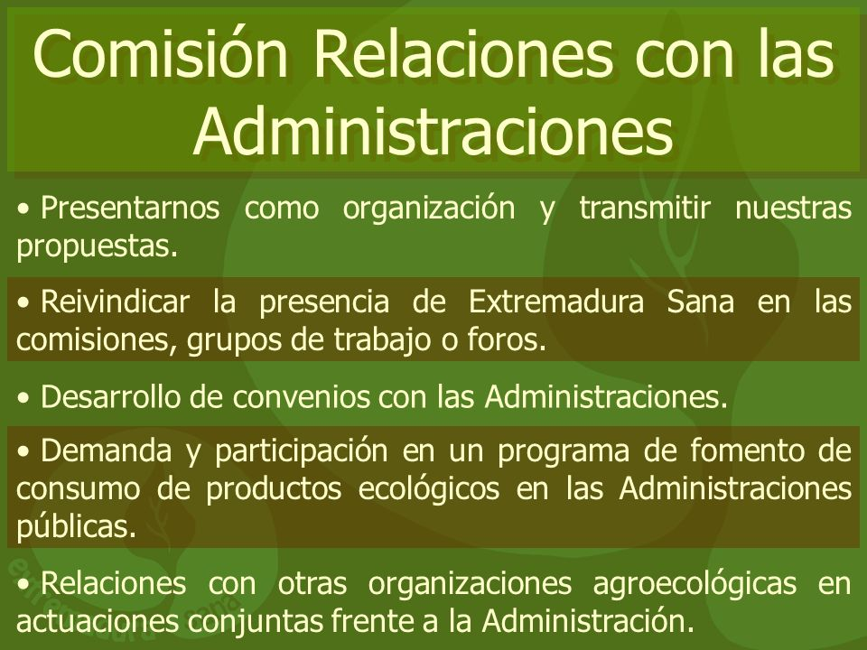 Comisión Relaciones con las Administraciones