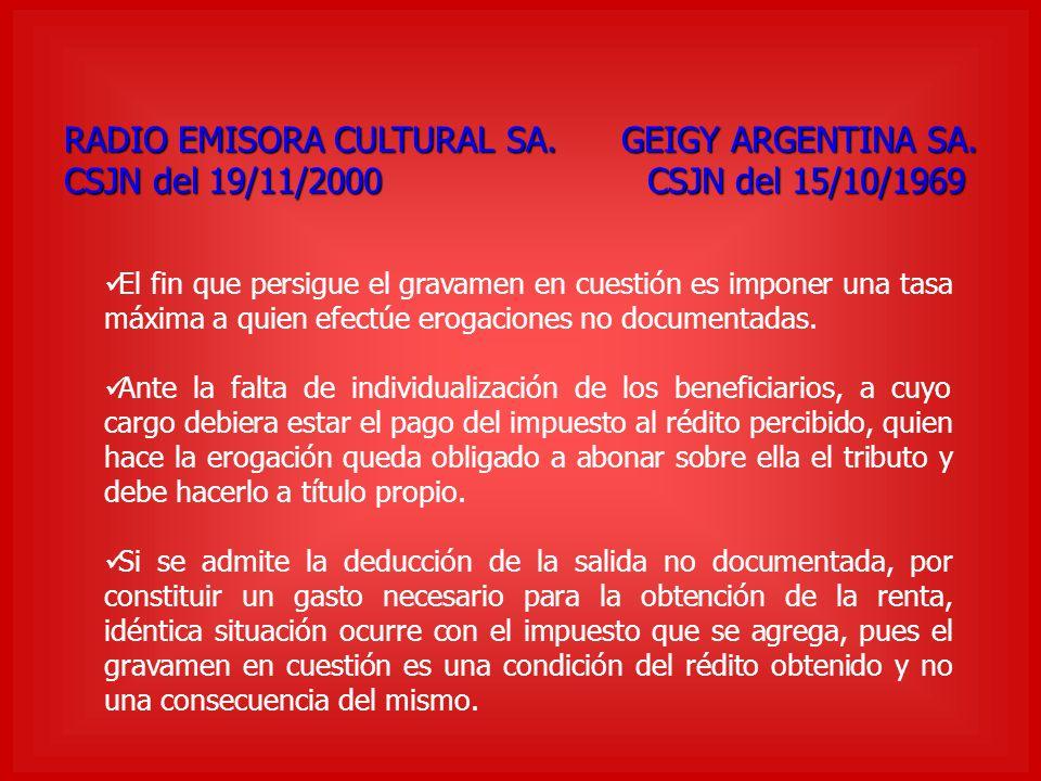 RADIO EMISORA CULTURAL SA. GEIGY ARGENTINA SA.