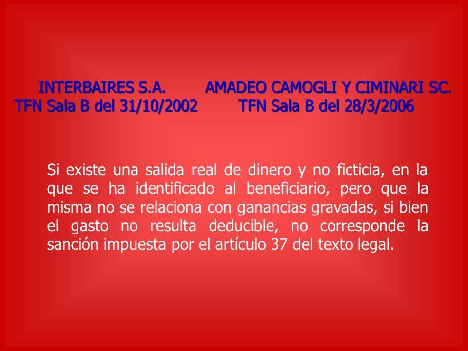 INTERBAIRES S.A. AMADEO CAMOGLI Y CIMINARI SC.