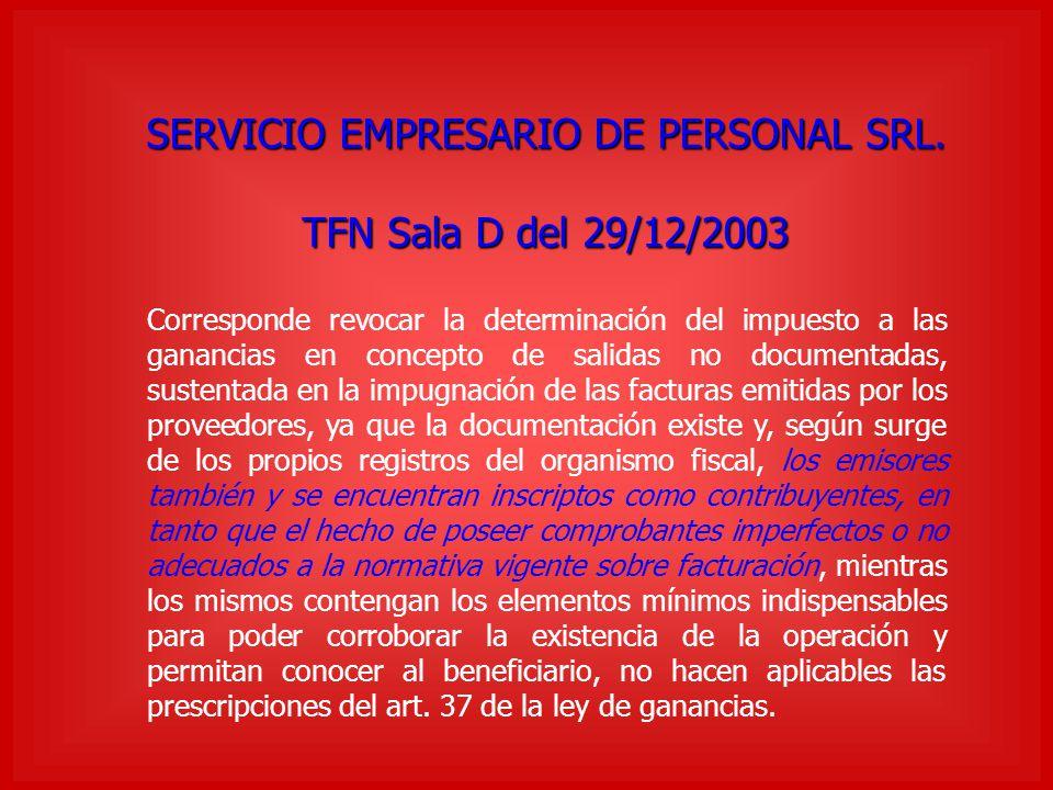 SERVICIO EMPRESARIO DE PERSONAL SRL.